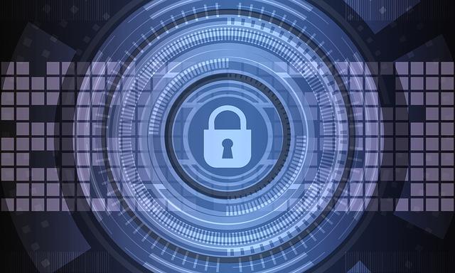 Hologramm eines digitalen Schlosses zum Datenschutz