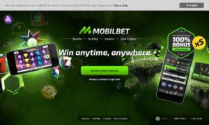 Screenshot der Webseite von Mobilbet