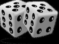 Würfel als Zeichen für Glücksspiel