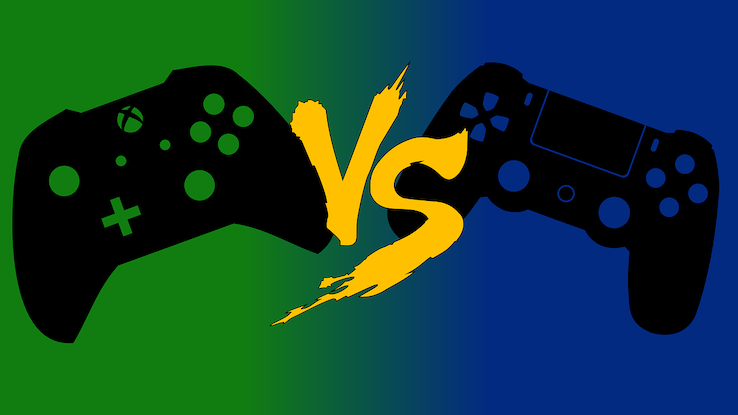 Microsoft XBOX vs. Sony Playstation Spielekonsole